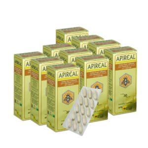 Kit 10 APIREAL - Geleia Real em Cápsulas
