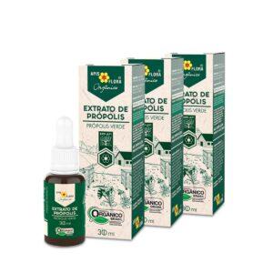 Kit 3 Extrato de Própolis Verde Orgânico 30 ml Apis Flora
