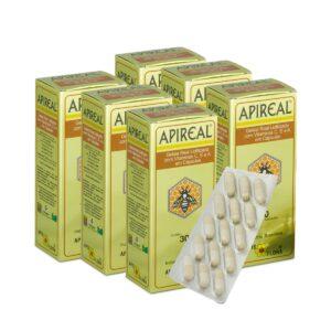 Kit 6 APIREAL - Geleia Real em Cápsulas