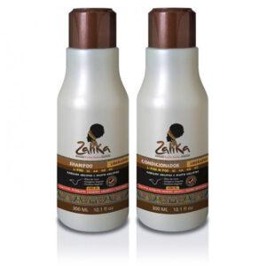 Kit Shampoo e Condicionador Cabelos Crespos e Muito Crespos Zalika 300ml