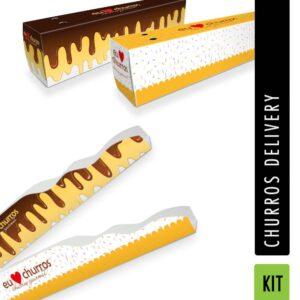 KIT para Churros Delivery - 300 unidades