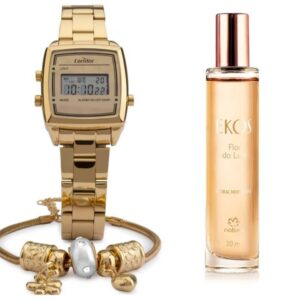 Kit Relógio Condor Feminino COJH512AC/4D + Ekos Flor do Luar 20 ml