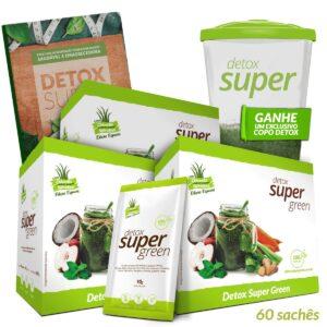 3 caixas Detox Super Green (Edição Especial) + Livro de Receitas Digital e Brinde Copo