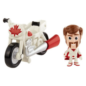 Mini Figura e Veículo - 15 Cm - Disney - Pixar- Toy Story 4 -Duke Caboom e Moto de Manobra - Mattel