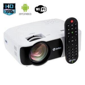 MINI PROJETOR LED PORTÁTIL - HD - SMART ANDROID - 2200 LUMENS - BETEC BT728A