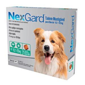 Nexgard Antipulgas e Carrapatos para Cães de 10 A 25 Kg