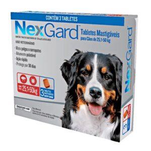 Nexgard Antipulgas e Carrapatos para Cães de 25 a 50Kg - 3 Comprimidos