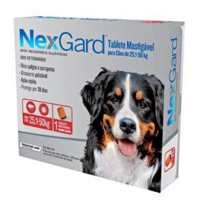 Nexgard Antipulgas e Carrapatos para Cães de 25 a 50Kg