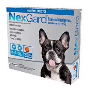 Nexgard Antipulgas e Carrapatos para Cães de 4 A 10 Kg - 3 Comprimidos