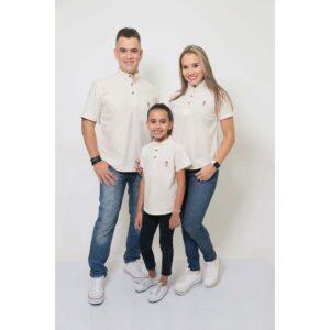 PAIS E FILHAS  Kit 3 peças Camisas Bata Gola Padre [Coleção Família]