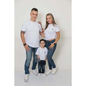 PAIS E FILHOS  Kit 3 Peças T-Shirt - Branca [Coleção Família]