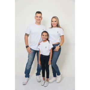 PAIS E FILHOS  Kit 3 Peças T-Shirt - Branca - Unissex [Coleção Família]