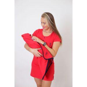 PAIS E FILHOS  Kit Saída de Maternidade 4 Peças - Vermelho [Coleção Família]