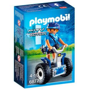 Playmobil - City Action - Mini Figura Policial com Balance-Racer - 6877 - Sunny