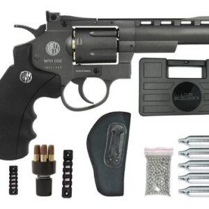 Revolver Pressão Rossi 701 Metal 4Pol Co2 Airgun 4.5mm K3 - 4.5 mm - Cinza