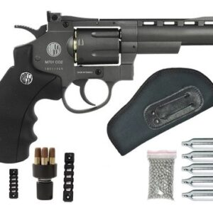 Revolver Pressão Rossi 701 Metal 4Pol Co2 Airgun 4.5mm K4 - 4.5 mm - Cinza