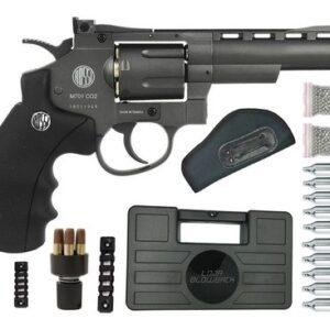 Revolver Pressão Rossi 701 Metal 4Pol Co2 Airgun 4.5mm K6 - 4.5 mm - Cinza
