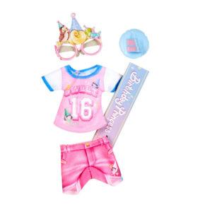 Acessórios de Boneca - Roupinha Fashion - Princesas Disney - Aurora - Aniversário - Hasbro