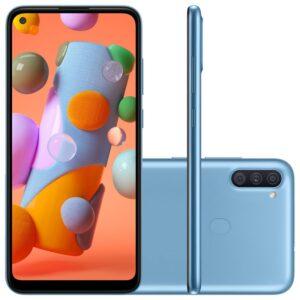 "Samsung Galaxy A11 6,4"" Dual Chip 64gb 3gb Ram Azul Octa Core Câmera"