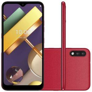 Smartphone Lg K22 Pus Vermelho Tela 6.2, 4g Wi-fi Android 10 Câm Tras