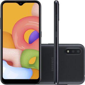 """Smartphone Samsung Galaxy A01 32gb 2gb Ram Tela Infinita De 5.7"""" Câme"""