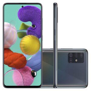 "Smartphone Samsung Galaxy A51 128gb 6.5"" 4gb Ram Câmera Traseira Quád"