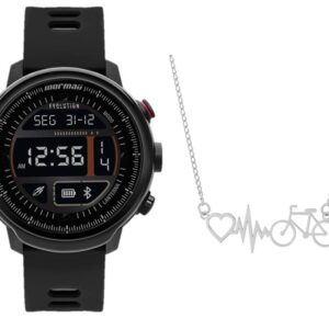 Smartwatch Mormaii Evolution Preto MOL5AA8P + Cordão Bike