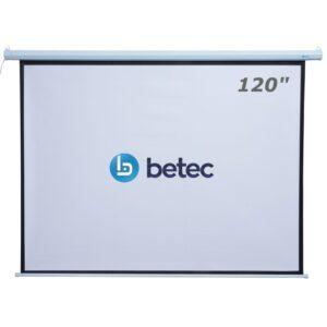 TELA DE PROJEÇÃO ELÉTRICA RETRÁTIL - 120 POLEGADAS - BETEC BT4575