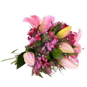 Buquê Surpreenda com Flores Roxas M