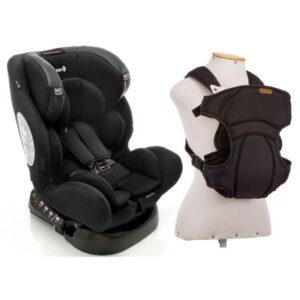 Kit Cadeira para Auto - De 0 a 36 Kg - Multifix - Black e Canguru - I Love Travel - Black - Infanti