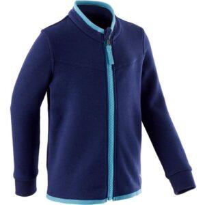 Blusa Moletom Zíper Menina Azul Marinho