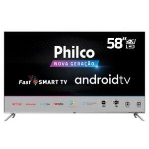 Smart Tv Philco 58 Polegadas LED 4K PTV58G71AGBLS Prata Bivolt