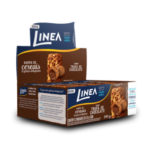 Linea Barra De Cereais 3 Grãos Integrais Trufa De Chocolate  12 Unidades