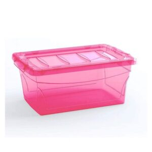 Caixa Organizadora Keter 11 Litros Omni Box Curver Rosa
