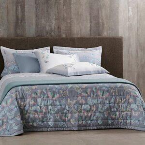 jogo de cama king buddemeyer 180 fios 100% algodão percalle papillons