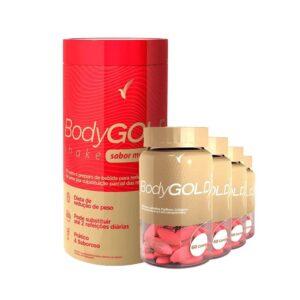 Kit Emagrecer: Body Gold Cápsulas - 60 dias e Shake Morango - 11 Porções