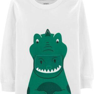 Camiseta de aba Peek-A-Boo de dinossauro Carter's 6M