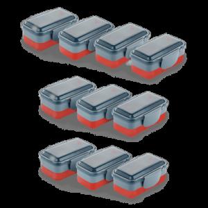 Kit Lunch Box Vermelha Electrolux 10 unidades