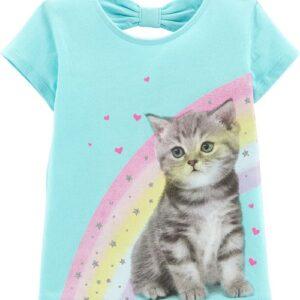 Camisetas de Laço de Gato de Arco-Íris Carter's 6M