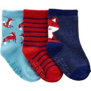 Conjunto de meias de raposa com 3 peças 0-3M