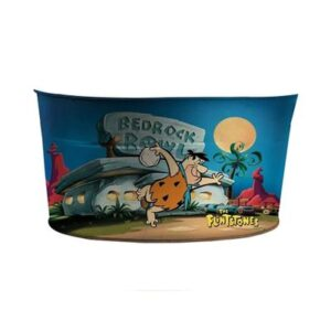Balde de Gelo Oval de Metal - Hanna-Barbera - Flintstones - Fred - Boliche - Colorido - Metrópole
