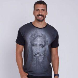 Camiseta Face de Jesus Cristo DVE4463 P