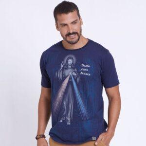 Camiseta Tudo por Jesus, nada sem Maria DVE4202 P