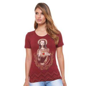Blusa Sagrado Coração de Jesus PRE3893 P