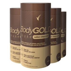 Shake Body Gold Chocolate: Perder Peso - 48 Porções - 4 Frascos