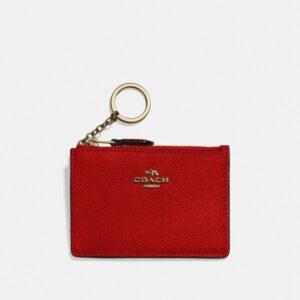 Porta Cartões Mini Skinny Coach Vermelho