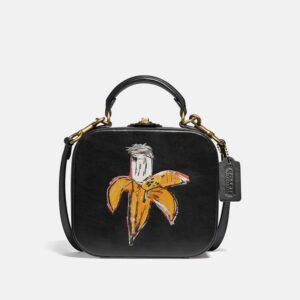 Bolsa Coach X Jean-Michel Basquiat Square Bag Preto