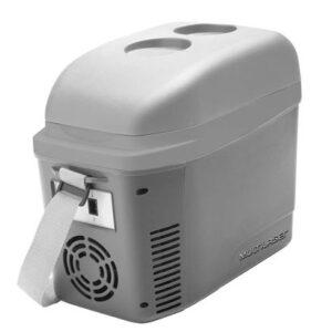 Mini Cooler 2 7L Cinza Fosco Com Porta Copos 12V Com Alca - TV013