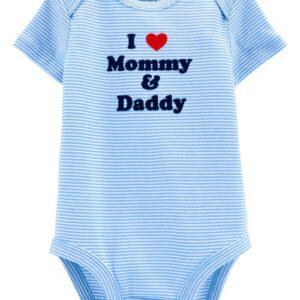 Body Colecionável Love Mommy & Daddy 12M