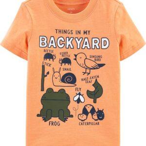 Camiseta de malha slub 'Things In My Backyard' 12M
